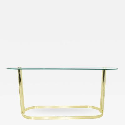 Pace Collection Pace Collection Brass and Glass Console Table