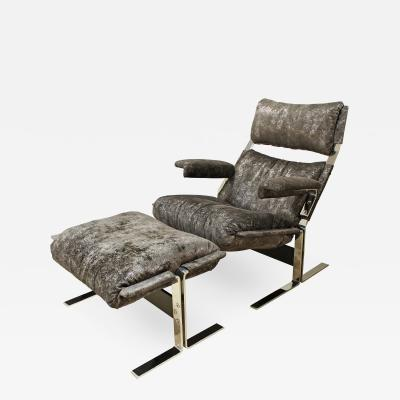 Pace Collection Pace Collection Chair and Ottoman 1970s