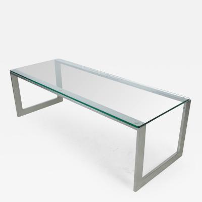 Pace Collection Pace Collection Chrome and Glass Cocktail Table