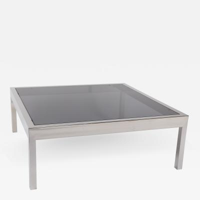 Pace Collection Pace Collection Chrome and Smoked Glass Coffee Table