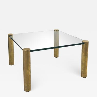 Pace Collection Pace Collection Glass and Brass Coffee Table