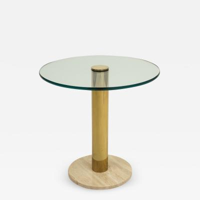 Pace Collection Pace Collection Marble Glass Brass Side Table