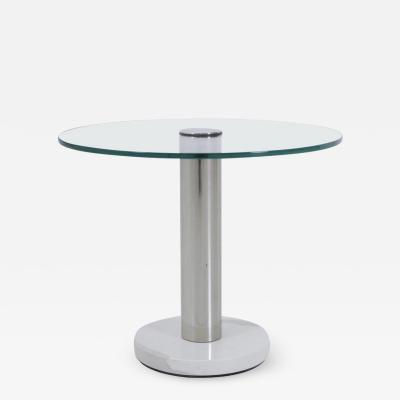 Pace Collection Pace Collection Marble and Chrome Side Table