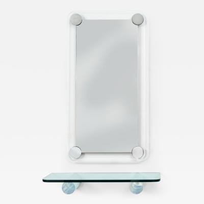 Pace Collection Pace Collection Mirror and Lucite Shelf c 1970s