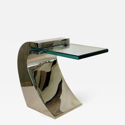 Pace Collection Pace Collection Polished Chrome and Glass Side Table 3 available