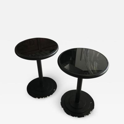Pace Collection Pace Collection Steel and leather End Tables