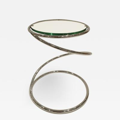 Pace Collection Pace Collection Swirl Table in Chrome and Glass 1970s