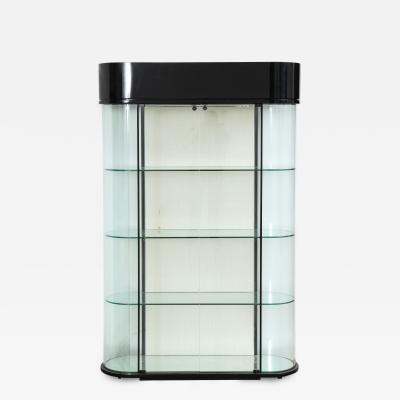 Pace Collection Pace Display Cabinet with Contoured Glass and Interior lights