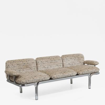 Pace Collection Pace designed Tubular Chrome Framed Sofa 1960s
