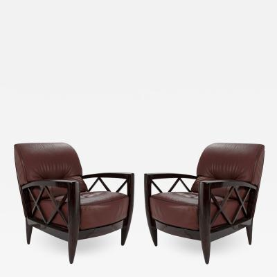 Pace Collection Pair of Lounge Chairs by Adam Tihany For Pace Collection