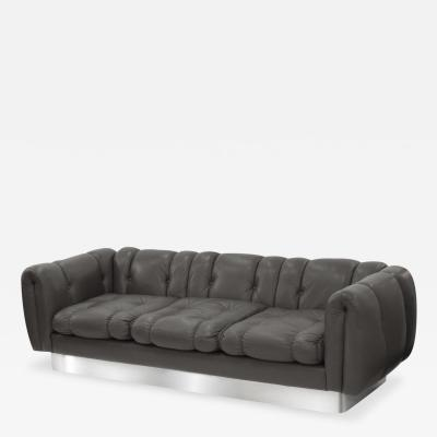 Pace Collection Sofa with Steel Base Attributed to Pace Collection