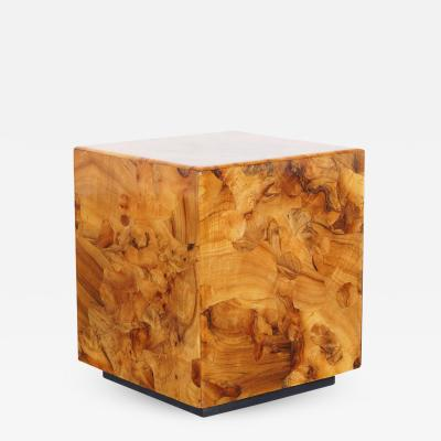 Pace Collection Vintage Burl Wood Side Tables by Pace Collection