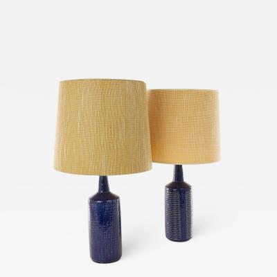 Palshus A pair of Cobalt Blue DL 30 table lamps by Linnemann Schmidt for Palshus 1960s