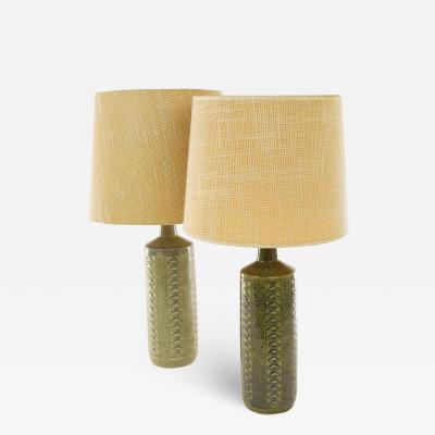 Palshus A pair of Green DL 27 table lamps by Linnemann Schmidt for Palshus 1960s