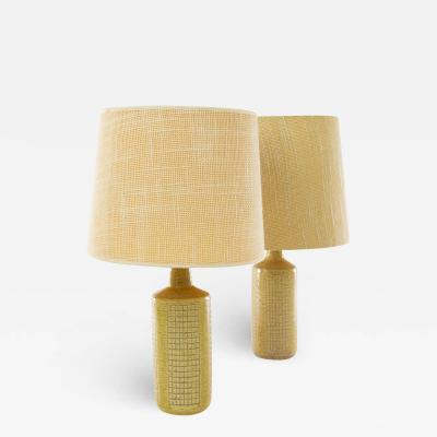 Palshus A pair of beige DL 30 table lamps by Linnemann Schmidt for Palshus 1960s