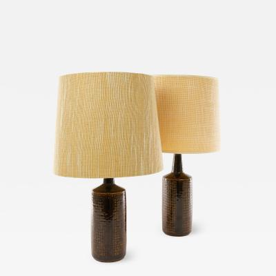 Palshus A pair of brown DL 30 table lamps by Linnemann Schmidt for Palshus 1960s