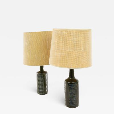 Palshus A pair of green blue DL 30 table lamps by Linnemann Schmidt for Palshus 1960s