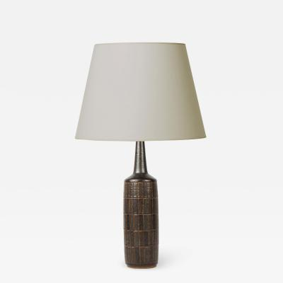 Palshus Tall grid texture table lamp by Palshus