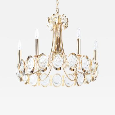 Palwa Gold Plated Chandelier with Crystals by Palwa