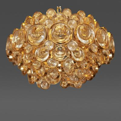 Palwa Gracious Gold Plated Chandelier by Palwa Germany 1970s