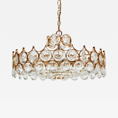 Palwa Impressive Brass and Glass Chandelier by Palwa
