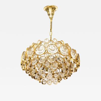 Palwa Palwa Optic Crystal Gilt Brass Chandelier