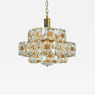 Palwa Square Glass Round Chandelier by Palwa