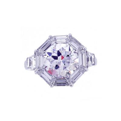 Pampillonia 2 58 Carat Diamond Octagon Frame Ring