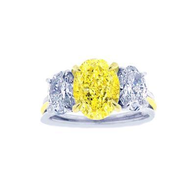 Pampillonia Canary Diamond Ring
