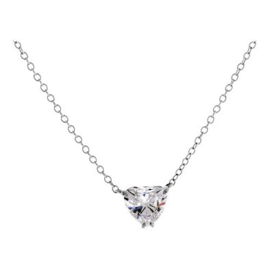 Pampillonia Heart Shape Diamond Pendant