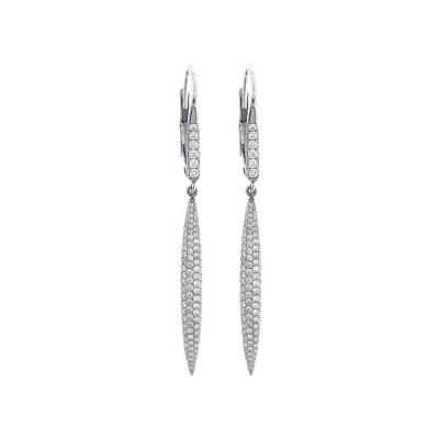 Pampillonia Pampillonia Diamond Drop Earrings