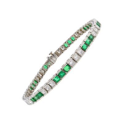 Pampillonia Pampillonia Emerald Diamond Bracelet