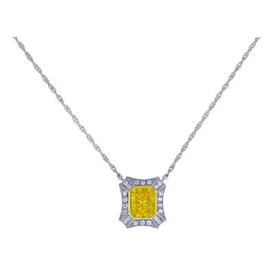 Pampillonia Remarkable Yellow Diamond Pendant