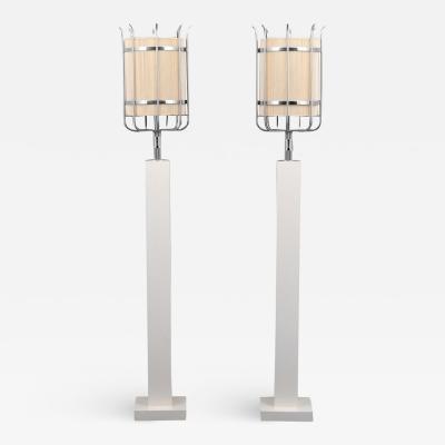Parzinger Originals Pair of Custom Tommi Parzinger Floor Lamps