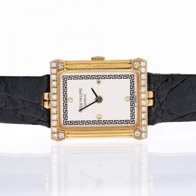 Patek Philippe Co 18K YELLOW GOLD LES GREQUES REF 4632 RECTANGULAR MENS WRIST WATCH