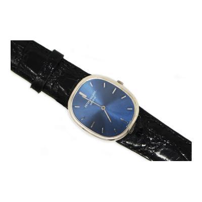 Patek Philippe Co Mint 1960s Patek Philippe 18kt White Gold Ellipse Mens Wristwatch