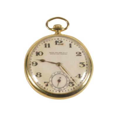 Patek Philippe Co Patek Philippe 18 Karat Yellow Gold Open Face Pocket Watch circa 1920