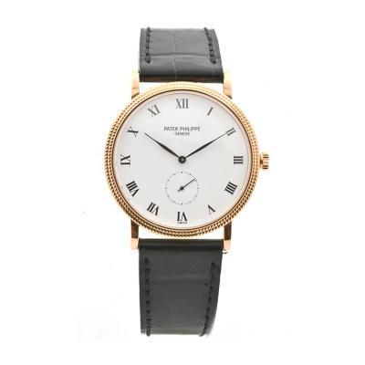 Patek Philippe Co Patek Philippe Rose Gold White Dial Calatrava Wristwatch