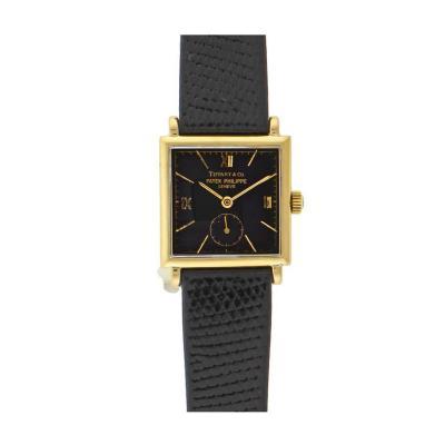 Patek Philippe Co Patek Philippe Tiffany Co Yellow Gold Manual Wristwatch
