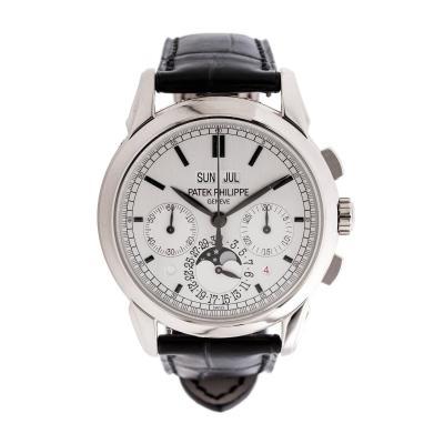 Patek Philippe Co Patek Philippe White Gold Grand Complications Perpetual Calendar Wristwatch