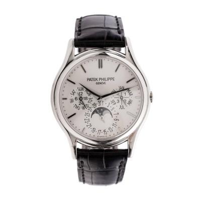 Patek Philippe Co Patek Philippe White Gold Perpetual Chronograph Wristwatch Ref 5140