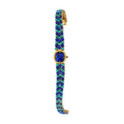 Patek Philippe Co Rare 1971 Piece Unique Patek Philippe Lapis Turquoise Diamond Bracelet Watch