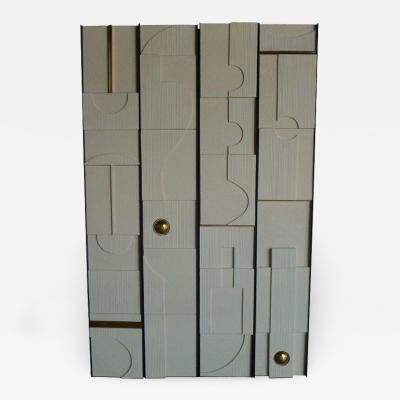 Paul Marra Design Art Wall Sculptural Modernist Frieze Panels by Paul Marra