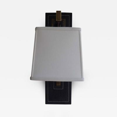 Paul Marra Design Black Leather Back Sconce