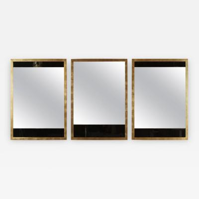 Paul Marra Design Black and Clear Glass Mirrors