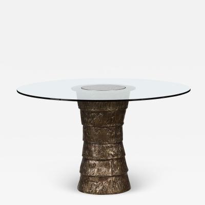 Paul Marra Design Brutalist Style Pedestal Table
