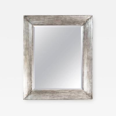 Paul Marra Design Distressed Silvered Frame Mirror by Paul Marra
