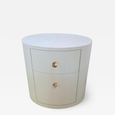 Paul Marra Design Italian Inspired 1970S Style Oval Nightstand
