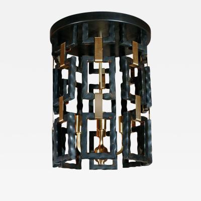 Paul Marra Design Link Fixture in Brass and Oil Rubbed Bronze