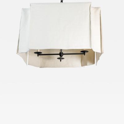 Paul Marra Design Modern Draped Linen Chandelier